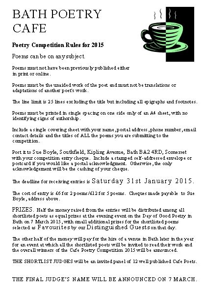 Bath Cafe Poetry Competition